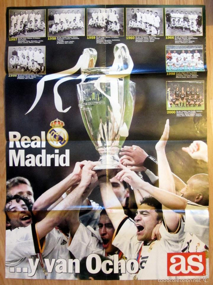869b8f175c POSTER REAL MADRID CAMPEON COPA DE EUROPA LA OCTAVA DIARIO AS UEFA  CHAMPIONS LEAGUE (Coleccionismo ...