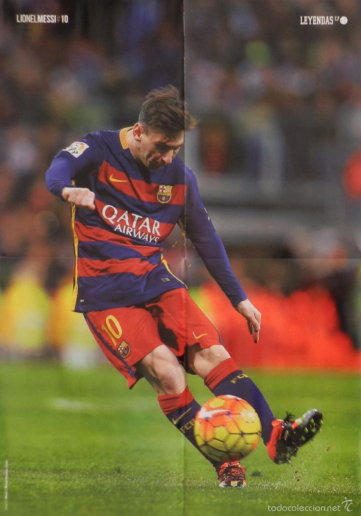 POSTER GRANDE LIONEL MESSI (FC BARCELONA) 2015/2016 FUTBOL TEMPORADA 15/16 LIGA BARÇA (Coleccionismo Deportivo - Carteles de Fútbol)