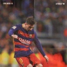 Coleccionismo deportivo: POSTER GRANDE LIONEL MESSI (FC BARCELONA) 2015/2016 FUTBOL TEMPORADA 15/16 LIGA BARÇA. Lote 56169541