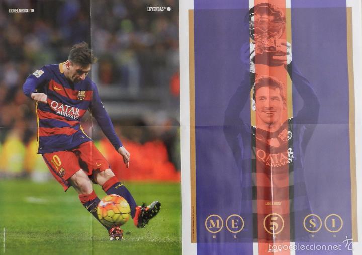 Coleccionismo deportivo: POSTER GRANDE LIONEL MESSI (FC BARCELONA) 2015/2016 FUTBOL TEMPORADA 15/16 LIGA BARÇA - Foto 2 - 56169541