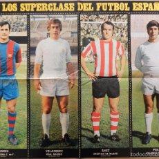 Collectionnisme sportif: POSTER ACTUALIDAD ESPAÑOLA LOS SUPERCLASE DEL FUTBOL ESPAÑOL Nº 6 TORRES VELAZQUEZ IÑAKI SAEZ POLI. Lote 56170067