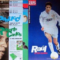 Coleccionismo deportivo: COLECCION POSTERS ASES BLANCOS REAL MADRID RAUL ROBERTO CARLOS HIERRO MORIENTES. Lote 56204131
