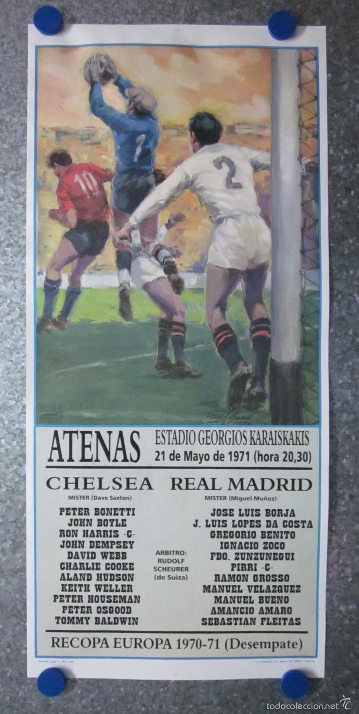 cartel de futbol 1971 recopa de europa chelsea - Buy Old Football ...