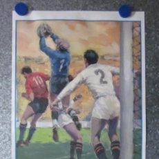 Colecionismo desportivo: CARTEL DE FUTBOL 1971 RECOPA DE EUROPA CHELSEA - REAL MADRID (PARTIDO DE DESEMPATE). Lote 201292803