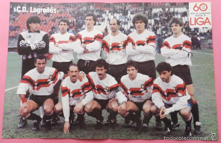 POSTER CD LOGROÑES 88/89 - FUTBOL TEMPORADA 1988/1999 - ALINEACION 60 AÑOS DE LIGA (Coleccionismo Deportivo - Carteles de Fútbol)