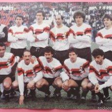 Coleccionismo deportivo: POSTER CD LOGROÑES 88/89 - FUTBOL TEMPORADA 1988/1999 - ALINEACION 60 AÑOS DE LIGA. Lote 56486995