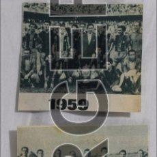 Coleccionismo deportivo: F.C. BARCELONA. LOTE 4 RECORTES ALINEACIONES CAMPEONAS COPA DEL GENERALÍSIMO. DISTINTOS AÑOS. Lote 54036017