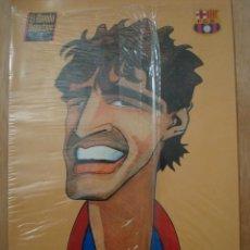 Coleccionismo deportivo: LAMINA CARICATURES DEL BARÇA CARICATURA NADAL CARICATURAS F.C. BARCELONA FC SIN ABRIR POSTER DINA4. Lote 56568615