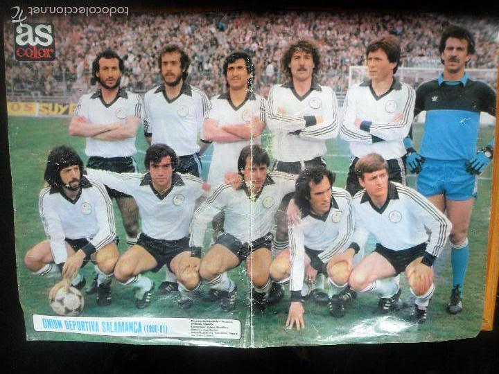 POSTER, UNION DEPORTIVA DE SALAMANCA LIGA 1980 -81 - AS COLOR (Coleccionismo Deportivo - Carteles de Fútbol)