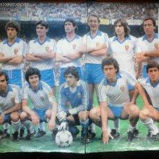 Coleccionismo deportivo: POSTER, REAL ZARAGOZA CD - LIGA 1980 -81 - AS COLOR. Lote 56570239