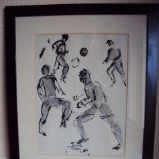 Coleccionismo deportivo: (F-1556)DIBUJO ORIGINAL TINTA Y ACURELA DE JORDI CUROS,BARCELONA MUNDIAL-82,DOCSA,ADIDAS CATALUNYA. Lote 56735197