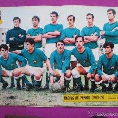 Coleccionismo deportivo: POSTER DE FUTBOL RACING DE FERROL AÑO 1971- 1972 --- LIGA ESPAÑOLA ---PERIODICO AS. Lote 37423922