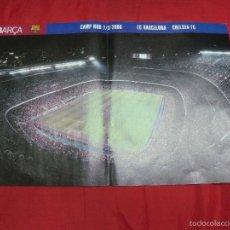 Coleccionismo deportivo: POSTER BARÇA.- CAMP NOU 7/3/2006. F.C. BARCELONA - CHELSEA FC. 46 X 30 CMS. . Lote 56868749
