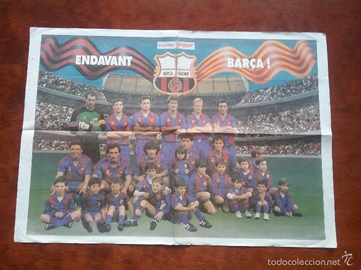 PÓSTER ENDAVANT BARÇA. BARÇA - MADRID. MEDIDAS: 66 X 47 CM (Coleccionismo Deportivo - Carteles de Fútbol)