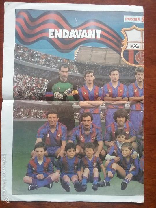 Coleccionismo deportivo: PÓSTER ENDAVANT BARÇA. BARÇA - MADRID. MEDIDAS: 66 X 47 CM - Foto 2 - 56987123