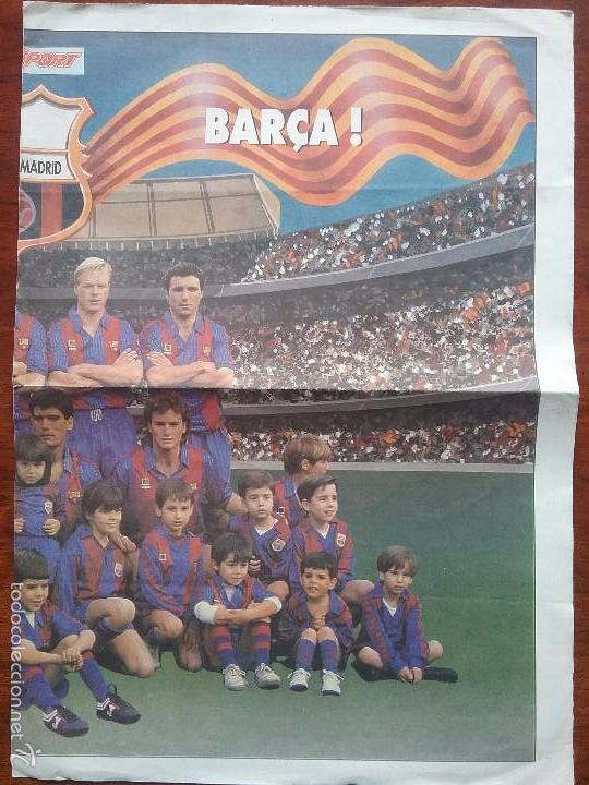 Coleccionismo deportivo: PÓSTER ENDAVANT BARÇA. BARÇA - MADRID. MEDIDAS: 66 X 47 CM - Foto 3 - 56987123