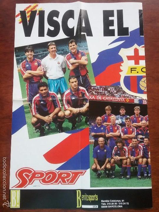 Coleccionismo deportivo: POSTER GIGANTE VISCA EL BARÇA 94. MEDIDAS 80 X 60 CM. F.C.BARCELONA - Foto 2 - 56987209