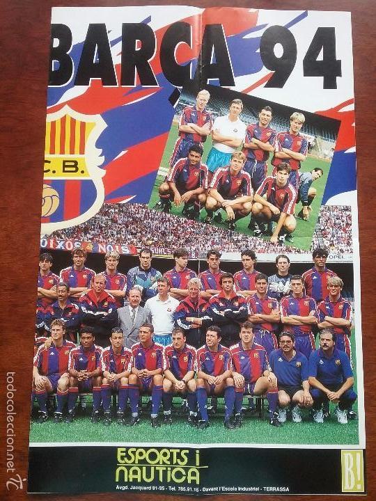 Coleccionismo deportivo: POSTER GIGANTE VISCA EL BARÇA 94. MEDIDAS 80 X 60 CM. F.C.BARCELONA - Foto 3 - 56987209
