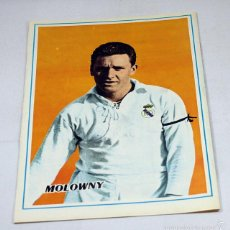 Coleccionismo deportivo: CARTEL POSTER FUTBOL 28,50 X 19,50 CM, LUIS MOLOWNY, REAL MADRID. Lote 57194866