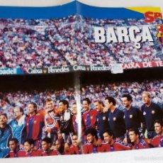 Coleccionismo deportivo: POSTER PLANTILLA FC BARCELONA TEMPORADA 97-98 . Lote 57266001