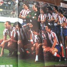 Coleccionismo deportivo: POSTER ONZE. AT.MADRID. AÑOS 1978/79. AL DORSO SOLSONA Y BONHOFF (VALENCIA C.F.). . Lote 57271129