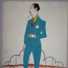 Coleccionismo deportivo: CARICATURA DE JACINTO DE QUINCOCES. CIRCA 1930. POR RUIZ BLANCO (CARICARDO). Lote 57308947