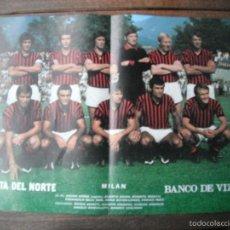 Coleccionismo deportivo: POSTER LA GACETA DEL NORTE. A.C.MILAN. AÑOS 70'.. Lote 57348890