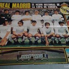 Coleccionismo deportivo: POSTER DEL REAL MADRID PROCEDE DE LA REVISTA ACTUALIDAD DEL AÑO 1973. Lote 57372362