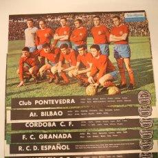 Coleccionismo deportivo: LOTE EQUIPOS ESPAÑOLES DE FUTBOL DEL AÑO 1967. Lote 57382583