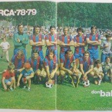 Coleccionismo deportivo: POSTER F.C BARCELONA 1978 1979 DON BALON. Lote 57452126