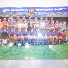 Coleccionismo deportivo: FC BARCELONA - TEMPORADA 84 85 - 1984 1985. Lote 57532759