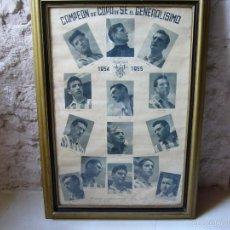 Coleccionismo deportivo: CARTEL ENMARCADO DEL ATHLETIC CLUB DE BILBAO. CAMPEÓN DE COPA 1954 1955 FÚTBOL. Lote 57694186