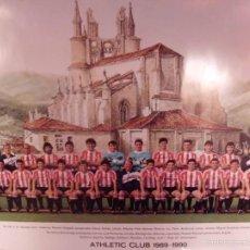 Coleccionismo deportivo: POSTER OFICIAL ATHLETIC BILBAO TEMPORADA 1989-90. Lote 57838904