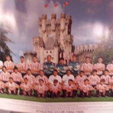Coleccionismo deportivo: POSTER OFICIAL ATHLETIC BILBAO TEMPORADA 1994-1995. Lote 57839043