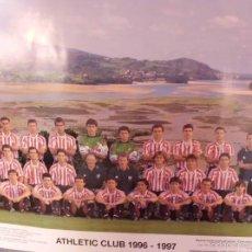 Coleccionismo deportivo: POSTER OFICIAL ATHLETIC BILBAO TEMPORADA 1996-1997. Lote 57839764