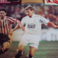 Coleccionismo deportivo: 8 POSTER DE ESTRELLAS DEL REAL MADRID DE FUTBOL 1995. Lote 57856486