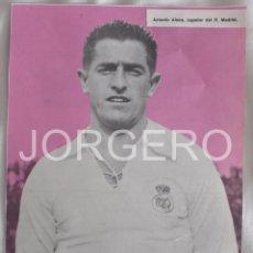 Coleccionismo deportivo: ANTONIO ALSÚA. REAL MADRID 1947-1948. RECORTE. Lote 58116911