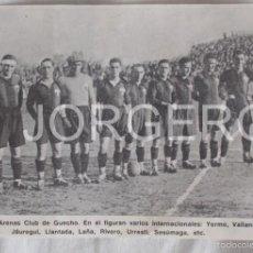 Coleccionismo deportivo: ARENAS CLUB DE GUECHO 1928-1929. RECORTE. Lote 58117060