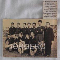 Coleccionismo deportivo: F.C. BARCELONA. ALINEACIÓN PARTIDO DE LIGA 1951-1952 EN ZORRILLA CONTRA EL VALLADOLID. RECORTE. Lote 58144072