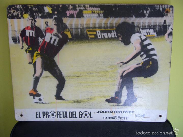 EL PROFETA DEL GOL JOHAN CRUYFF STORY FUTBOL FOTOCROMO ORIGINAL EN CARTON DURO COLOREADO (Coleccionismo Deportivo - Carteles de Fútbol)