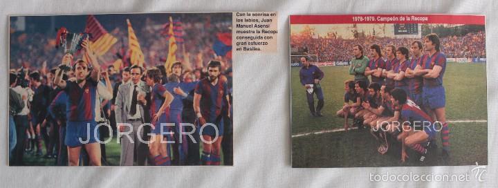 F.C. BARCELONA. LOTE 2 RECORTES CAMPEÓN RECOPA 1978-1979 EN BASILEA CONTRA FORTUNA D. (Coleccionismo Deportivo - Carteles de Fútbol)