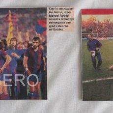 Coleccionismo deportivo: F.C. BARCELONA. LOTE 2 RECORTES CAMPEÓN RECOPA 1978-1979 EN BASILEA CONTRA FORTUNA D.. Lote 58218065