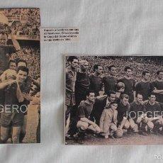 Coleccionismo deportivo: F.C. BARCELONA. LOTE 2 RECORTES CAMPEÓN COPA GENERALÍSIMO 1950-1951 EN CHAMARTÍN CONTRA R. SOCIEDAD.. Lote 58218074