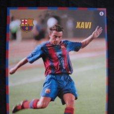 Coleccionismo deportivo: POSTER MUNDO DEPORTIVO - F.C.BARCELONA - Nº 6 - XAVI.. Lote 58231092