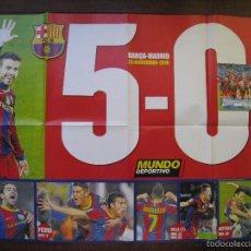 Coleccionismo deportivo: POSTER MUNDO DEPORTIVO. BARÇA 5 - 0 MADRID - 29 NOVIEMBRE 2010.. Lote 58249723