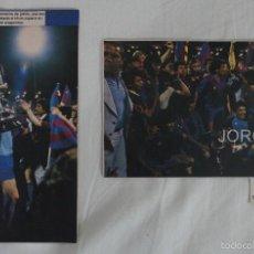 Coleccionismo deportivo: F.C. BARCELONA. LOTE 2 RECORTES CAMPEÓN COPA DEL REY 1982-1983 EN ZARAGOZA CONTRA R. MADRID.. Lote 58251895