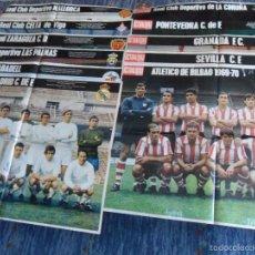 Coleccionismo deportivo: LA ACTUALIDAD ESPAÑOLA 10 PÓSTER INFORME TÉCNICO DEPORTIVO EQUIPOS 1ª DIVISIÓN 1969 70. RAROS!!!!!!!. Lote 58333441