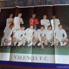 Coleccionismo deportivo: TREMENDO CARTEL VALENCIA C.F. 1977. FORMA EDICIONES 89X64 CMS. PAPEL CALIDAD.. Lote 58333835
