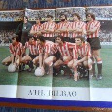 Coleccionismo deportivo: TREMENDO CARTEL ATHLETIC C. BILBAO 1977. FORMA EDICIONES 89X64 CMS. PAPEL DE CALIDAD.. Lote 58333891
