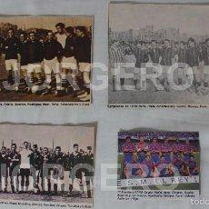Coleccionismo deportivo: F.C. BARCELONA. LOTE 4 RECORTES AUTÉNTICAS ALINEACIONES CAMPEONAS COPA DEL REY. DISTINTOS AÑOS. Lote 58488147